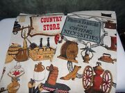 Vintage Stevens Linen And Kaydee Linen Dish Towels Never Used Country Store Motif