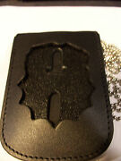 Ny/nj-style-police Assistant 1st Deputy Commissioner Shield/id Card Neck Holder