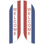 Welcome Usa Feather Flag Sign Kit Banner Advertising Home Garden- No China