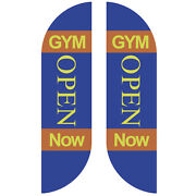 Gym Open Now Feather Flag Sign Kit Banner Advertising Home Garden- No China