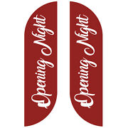 Opening Nights Feather Flag Sign Kit Banner Advertising Home Garden- No China