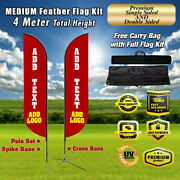 Custom Flag Outdoor Feather Flag Sign Kit Banner Advertising No China Swooper