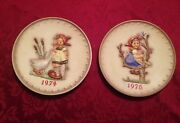 Hummel Goebel 1974 4th Annual And 1976 6th Annual Plates