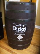 George Dickel Tabasco Tennessee Full Size Whiskey Barrel Display Piece Man Cave