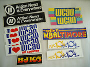 Lot Of Bumper Stickers 70s 80s Radio Tv Station... Mainly From Balto. And Dupli