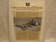 Original Oliver Disk Harrow 265 Brochure