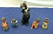 Paratone, All That Jazz Trumpet Player, 1990 Enesco, With 4 Figurines