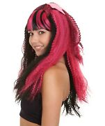 Adult Curly Wig For Cosplay New Monster High Electrified Draculaura Hw-1431a
