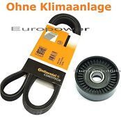 V-ribbed Belts - Set + Tension Pulley Opel Signum 1.8 122ps Yr 2003 - New