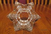 Beautiful Villeroy And Boch Crystal Star Shaped Votive Candle Tea Light Holder