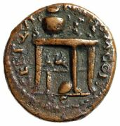 Nero Ae Semis Table, Two Gryphons, Urn, Wreath, Shield Ric 242 Very Rare Vf