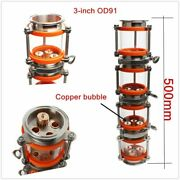 Copper Bubble Distillation Column With 4 Sections For 3 Distiller Glass Column