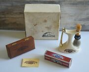 Vintage Shaving Set Barbershop Old Fashioned Luxury By Franklin Toiletry Co.