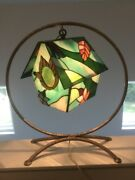 18 Stained Glass Handcrafted Bird House Night Light Table Desk Lamp Beautiful