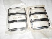Oem Pair -heavy Fmco Ford Mustang Tail Light Bezels Taillight Trim