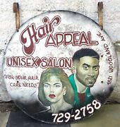 Hair Salon Trade Sign, South West Philadelphia, Double Sided