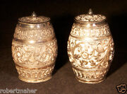 Antique Silver Hand Crafted French Barrel Shakers Make Me An Offer