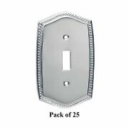 25 Switchplate Roped Chrome Single Toggle/dimmer   Renovatorand039s Supply