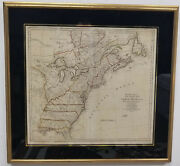 Antique Bowles Pocket Map North America Peter Bell Sieur D'anville United States