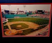 Photo Print Fenway Park Green Monster Wall Boston The Red Sox Game 440 Signed