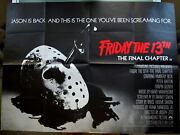Friday The 13th The Final Chapter Original Film Poster