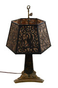 Antique French Table Lamp W/bronze Sphinxes And Rams Heads