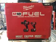 Milwaukee M18 Fuel 18v Cordless Hammer Drill And Impact Driver Combo Kit