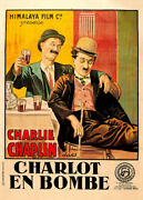 Charlie Chaplin A Night Out Late 1910s French Grande Movie Poster