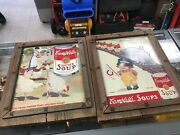 Campbell's Soup Vintage Tin Pictures In Wooden Frames