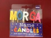 Alphabet Morgan Name Birthday Candles Personalized Put Their Name In Lights