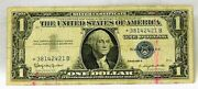 1957 B Star Note 1 One Dollar Bill Silver Certificate Note Blue Seal. V3