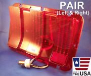 Pair 68-67 Mustang Sequential Led Brake/tail Lights With Lenses For 1968-1967