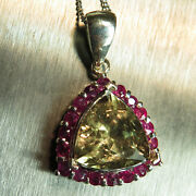 Natural Diaspore Colour Change And Ruby 9ct 14k 18k Yellow White Rose Gold Pendant