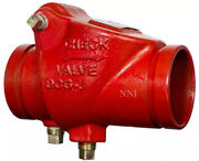 6 Swing Check Valve Grooved Ends Ductile Iron Fire Protection 300psi