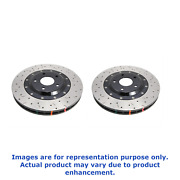 Dba Front Pair Drilled Slotted 5000 Series 2 Piece Rotor For Nissan Gt-r