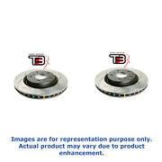 Dba For Shelby Gt 07-09 Pair Front Slotted 4000 T3 Slot Rotor 42124s X2