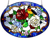 24 X 18 Royal Floral Garden A Style Stained Glass Window Panel