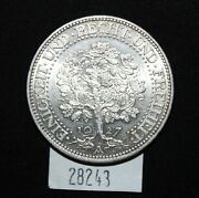 Wpcoins Germany 1927a 5 Reichmark - 'oaktree' - Original Coin