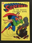 Vintage Superman To The Rescue Coloring Book 1964 Western Publishing
