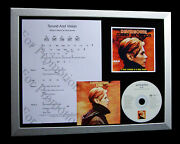 David Bowie Sound And Vision Ltd Music Cd Quality Framed Display+fast Global Ship