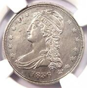 1836 Reeded Edge Capped Bust Half Dollar 50c Coin - Ngc Au Details - Key Date