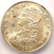 1835 Capped Bust Half Dollar 50c Coin - Certified Icg Ms63 Bu - 1880 Value