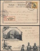 German East Africa 1907 - Registered Postcard To Luxembourg.....dd Mv-4161