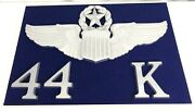 Wwii Us Army Air Corps Senior Pilots Large Wood Framed Wings And Class Number