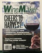Wine Maker Cheers To Harvest Skin Contact Tips Oct/nov 2017 Free Shipping Jb