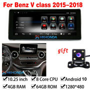 Android 10 Car Gps Auto Radio Navi 4g+64gb For Mercedes Benz V Class 2015-201