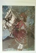 Woman On Horse I 12.3.59. Picassoand039s Lithography Framed/museum Glassed/acid Free