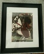Picasso Woman On Horseback Ii 12-3-59 Pro.framed/museum Glass Acid Free Backed
