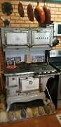 Wedgewood Gas/wood Cook Stove 1920and039s. Heats Kitchen While Cooking Or Firebox Use