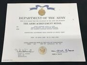 1990 Us Army Achievement Medal Named Certificate